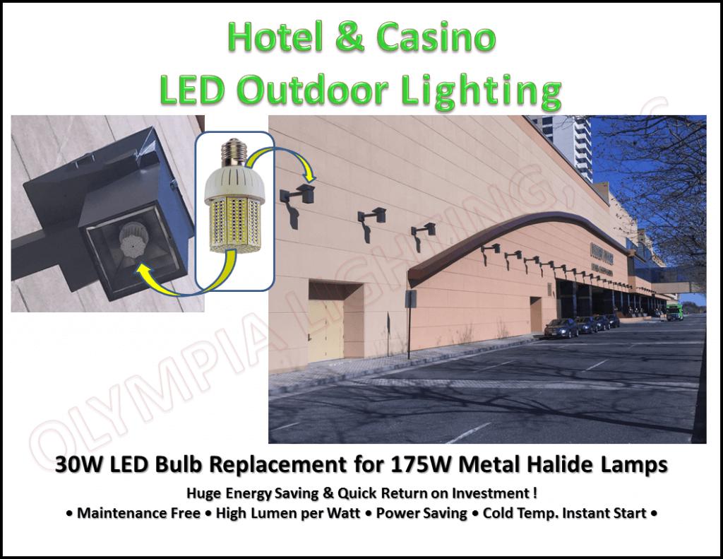 hotel and casino outdoor lighting